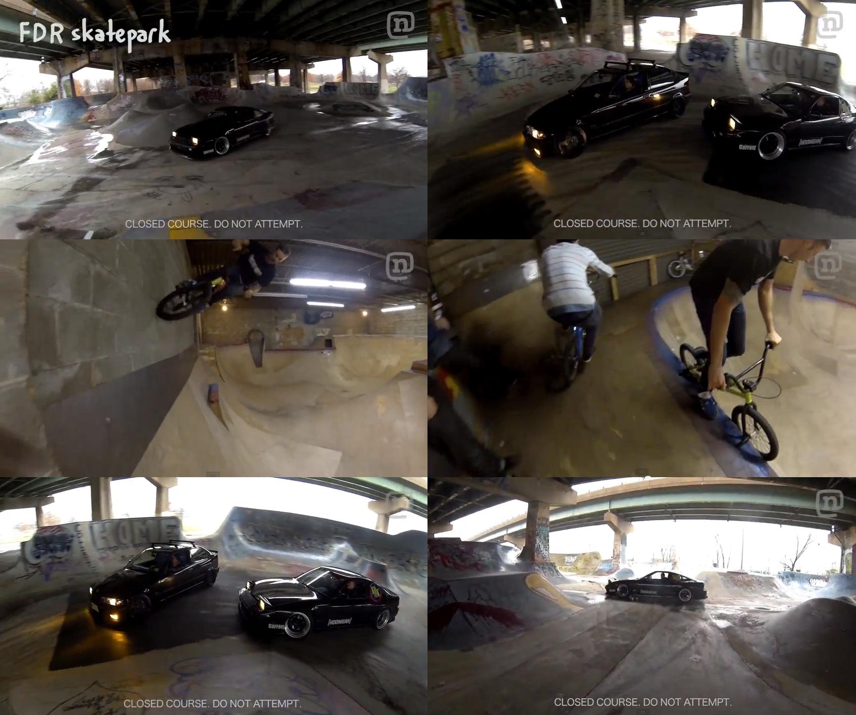 drifting at fdr? bikes at the warehouse?