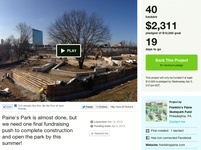 Paine's Park Kickstarter