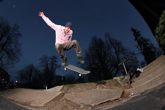 JP Gillespie skating Trackmasters. Photo by Andrew Maholsic.